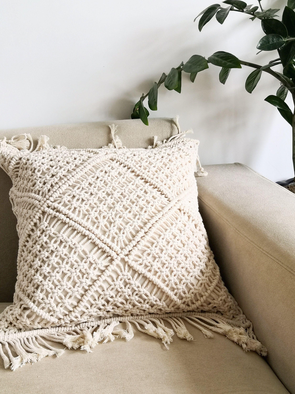 macrame pillow cover boho cushion cover