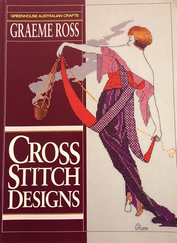 Graeme Ross counted cross stitch designs - 153 page book 27 designs