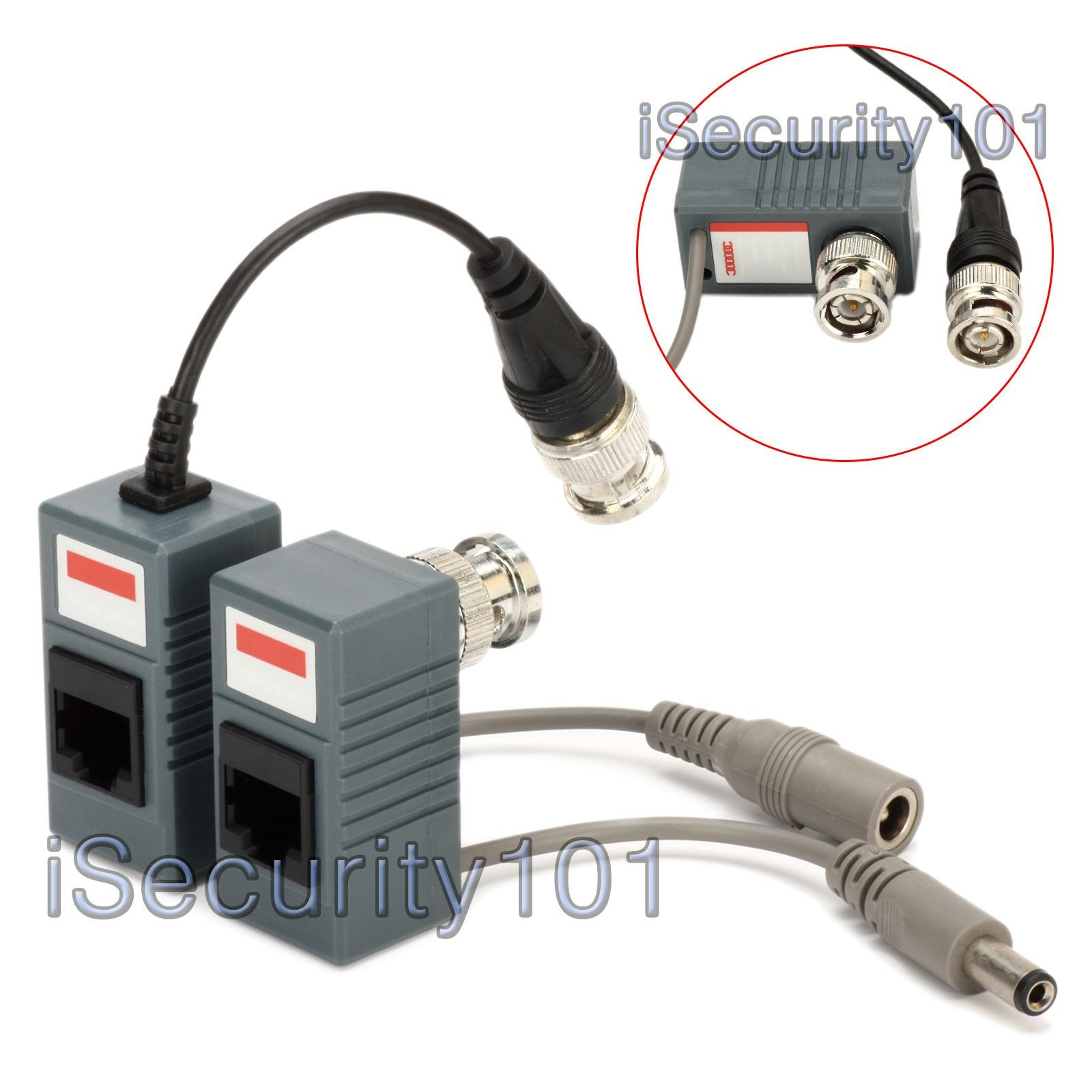 Cctv Balun Wiring Diagram Isecurity101 1 Pair Bnc To Rj45 Cat5 Throughout