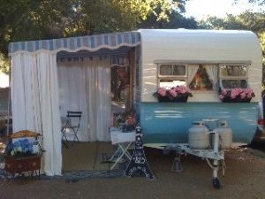 Omg Enclosed Awning With Images Glamping Trailer Vintage Camper