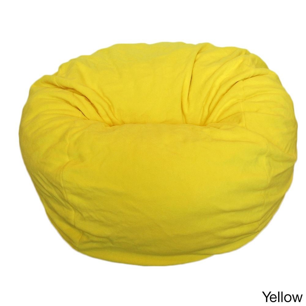 Anti Pill 36 Inch Wide Fleece Washable Bean Bag Chair Yellow Ahh Products