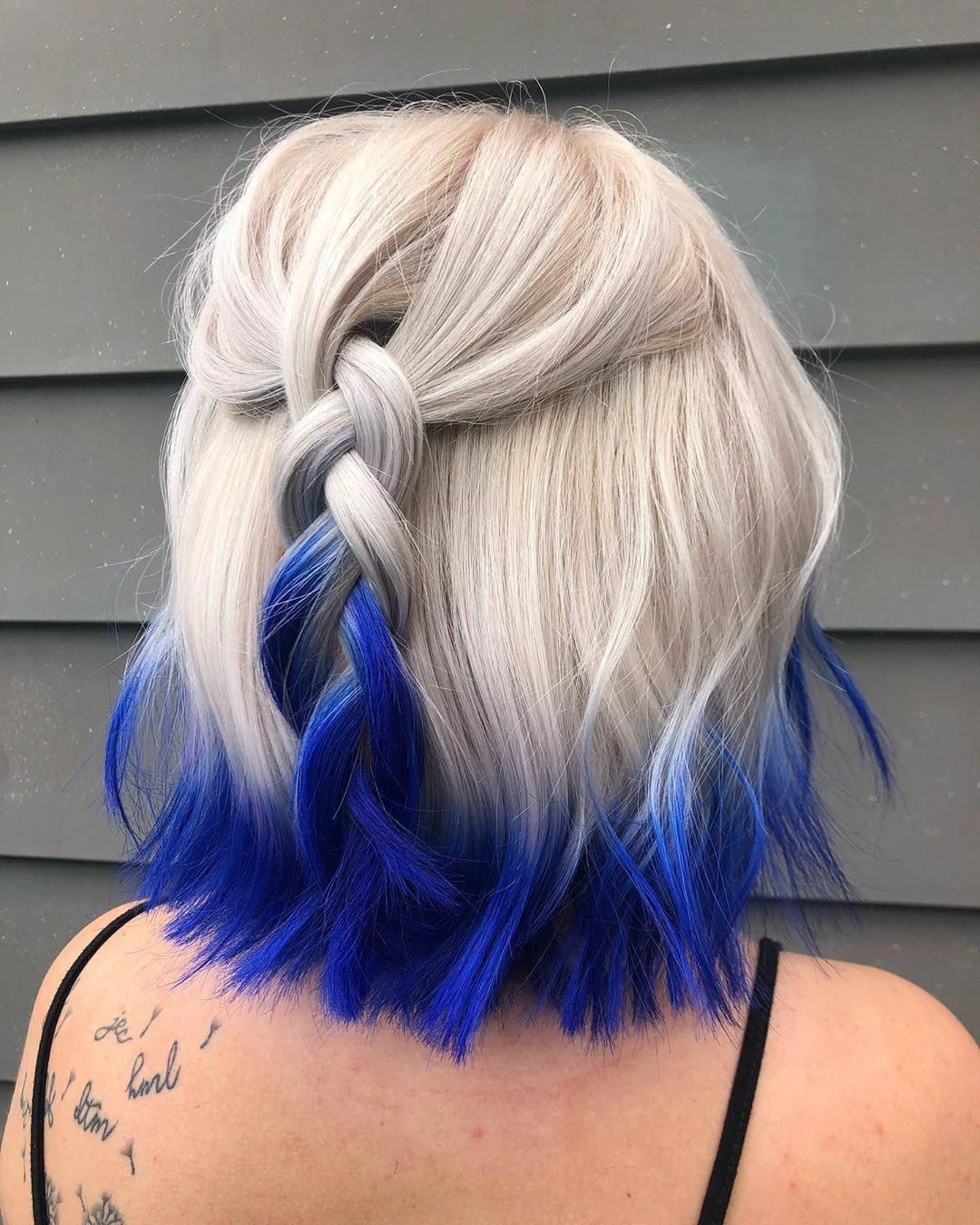 Arctic Fox Hair Color Veronicaanowak Just The Tips I Love Doing This Kind Of Stuff More Dip Dye Pleaaaase In 2020 Hair Styles Hair Dye Colors Arctic Fox Hair Color