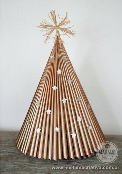 Como Fazer Arvore De Natal Com Revista Reciclagem Passo A