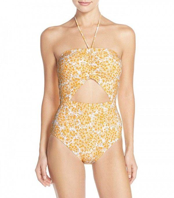 Michael Michael Kors Chiltington Floral Print Swimsuit