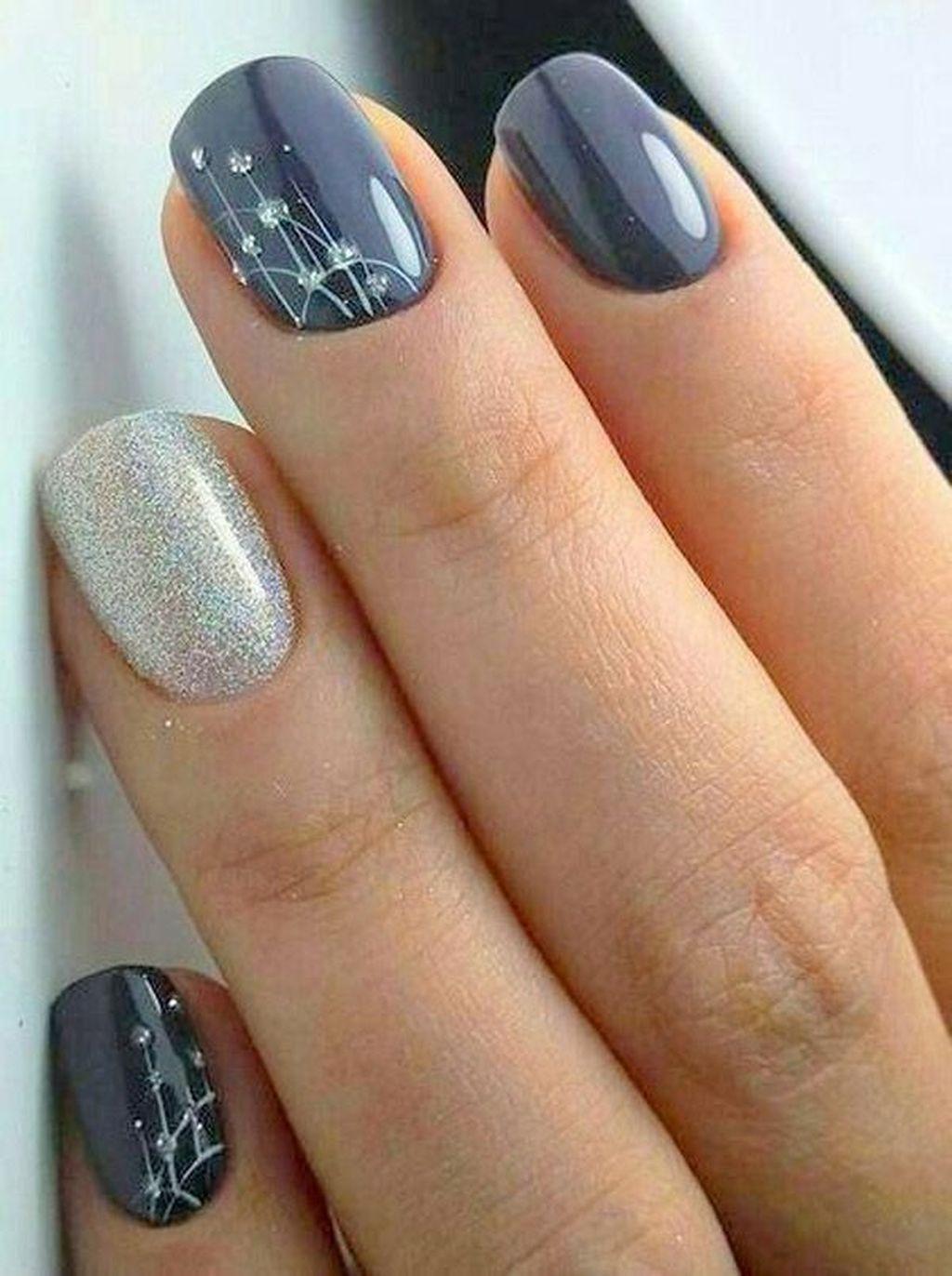 40 Beautiful Autumn Nails Design And Color Ideas 2019 Paznokcie