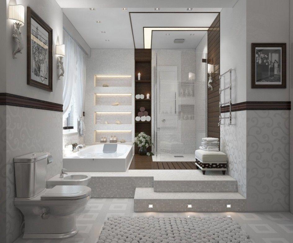 Bathroom Shower Room Design Ideas With Modern Bath Tub Design With