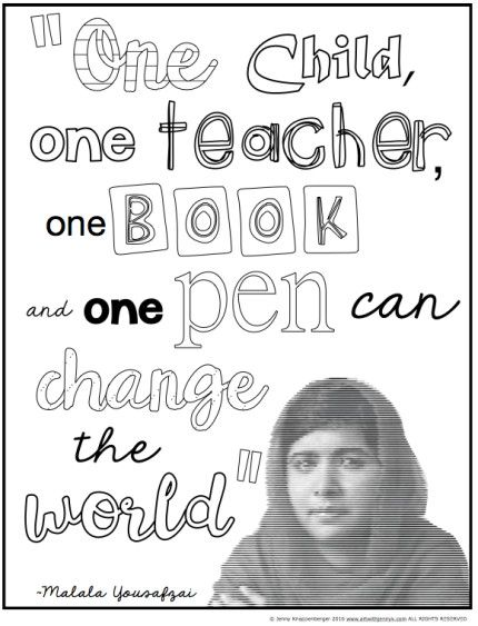 Malala Yousafzai Classroom Activities | Seasonal Teaching Resources ...