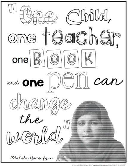 Malala Yousafzai Classroom Activities Art With Jenny K Malala Yousafzai Classroom Activities Women History Month Activities