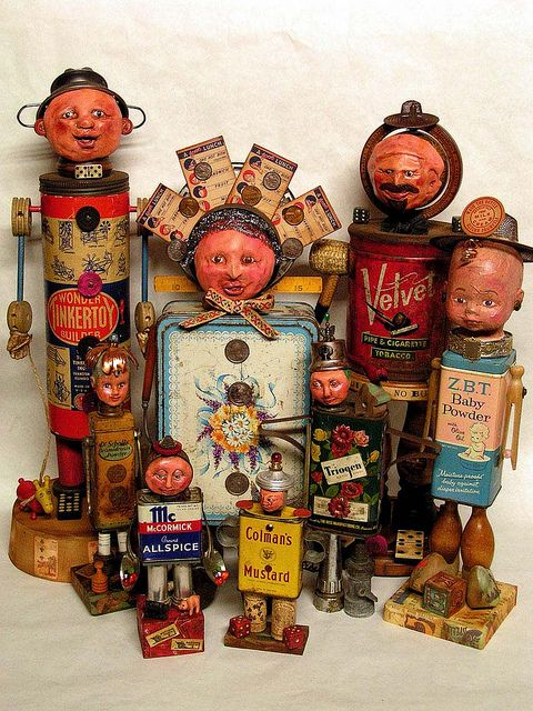 Assemblage art characters