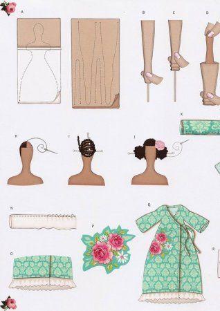 Muñecas de vestir tilde Ángel con Bird: Modelo para la costura ...