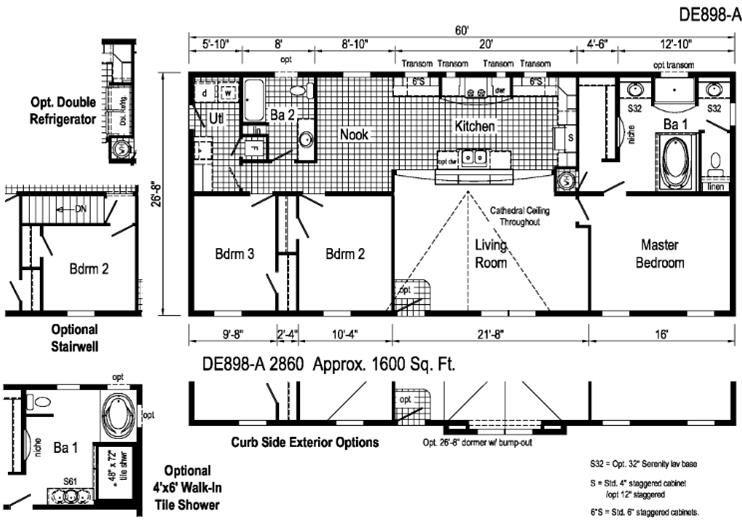 28x60 Floor Plan Floor Plans Manufactured Home Remodel Remodeling Mobile Homes