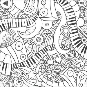 Music doodle coloring page : Craft Haven Square 3 Free | coloring ...