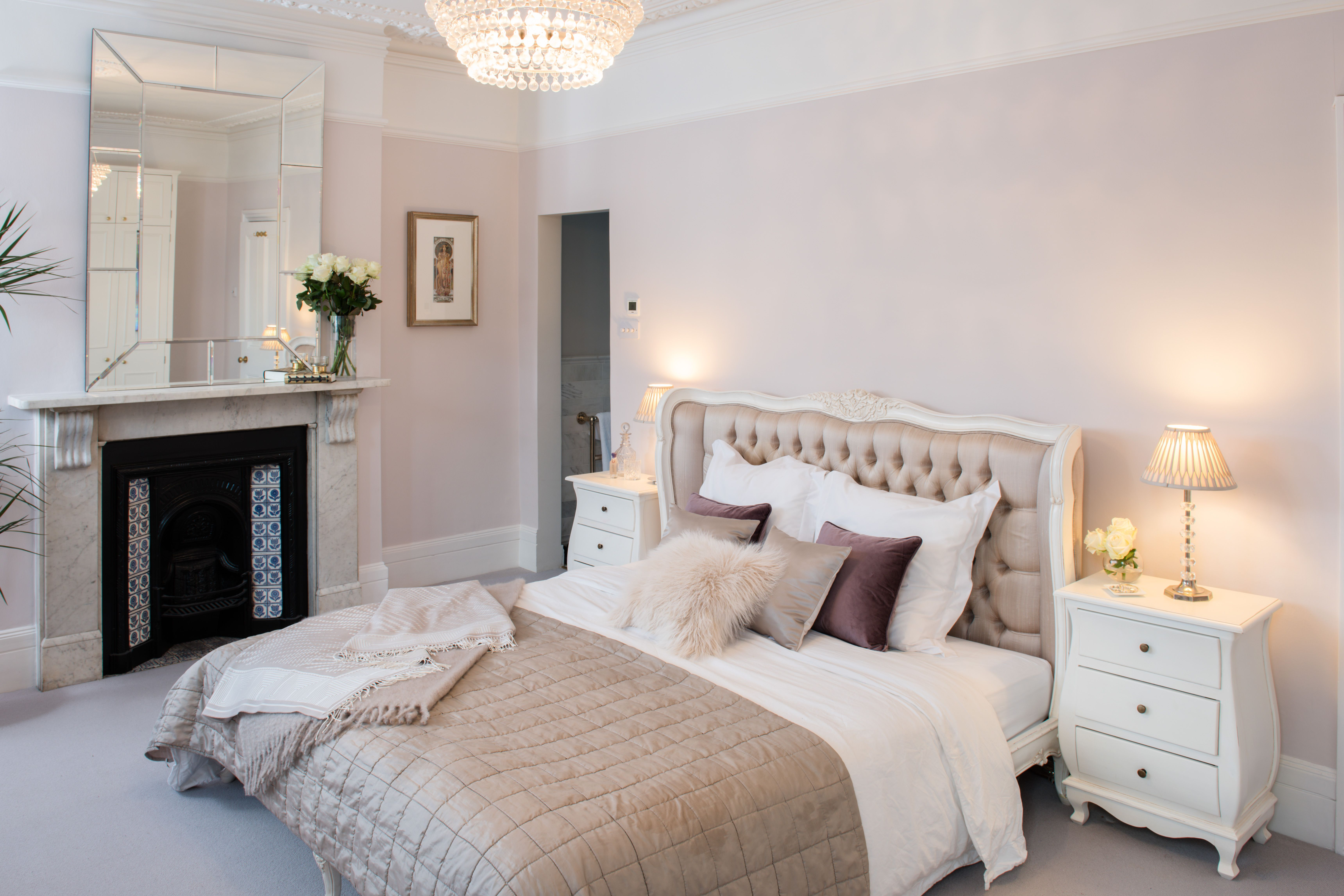 Luxury French style master bedroom with superking