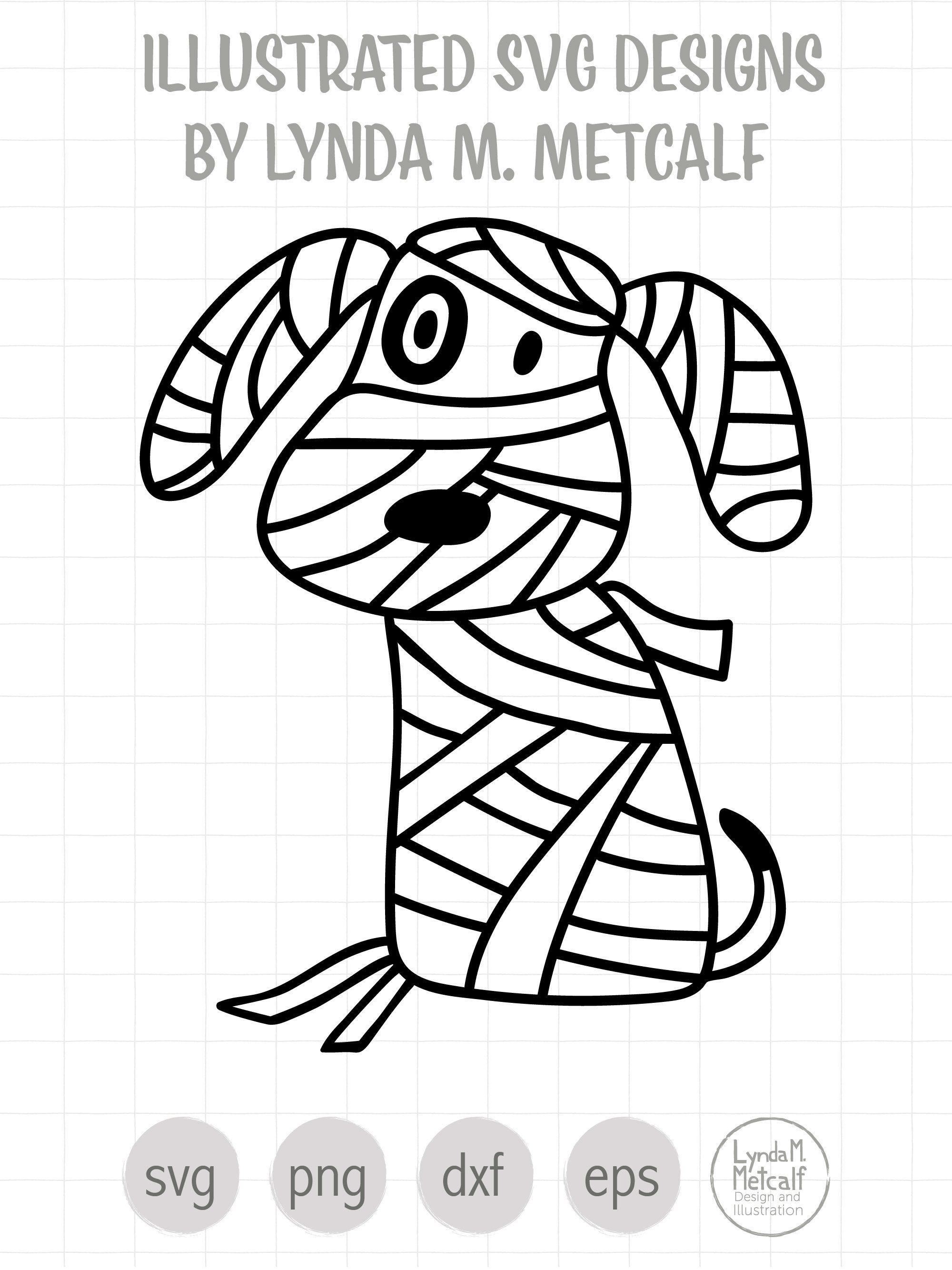 Mummy Puppy SVG and Clipart for Halloween, Dog Halloween