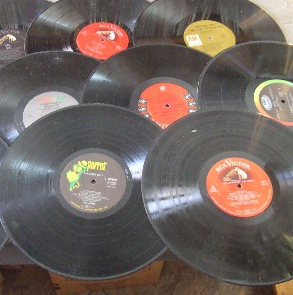10 Vinyl Lot 12 Records Crafts Lps Party Decorations Diy Vinyl Party Decorations Vinyl