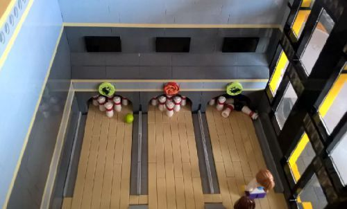 STRIKE Bowling Alley: A LEGO® creation by MoreCity Bricks : MOCpages ...