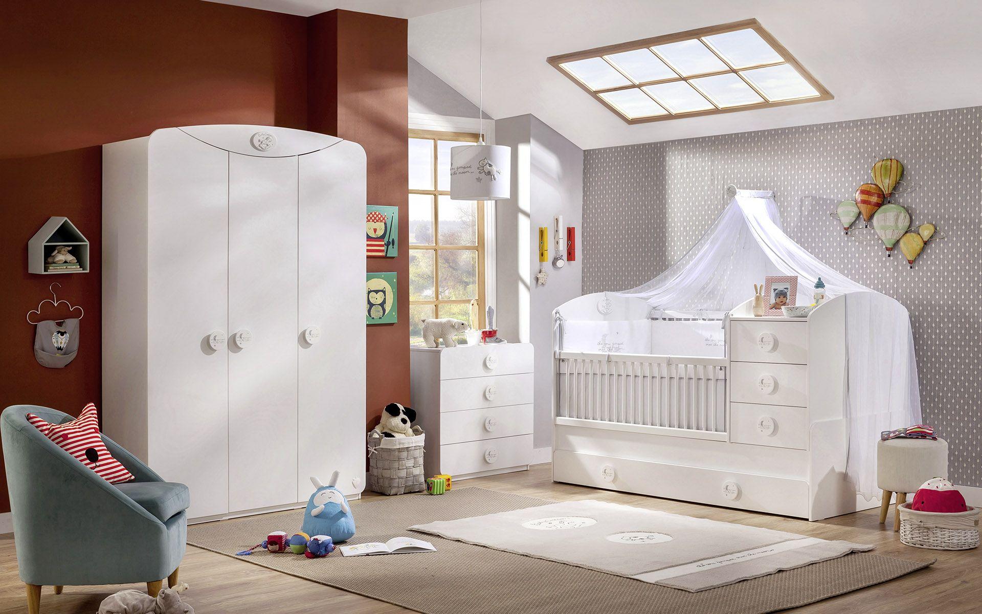 CHAMBRE BABY COTTON 1 – lit barreau – armoire – fauteuil – Cilek