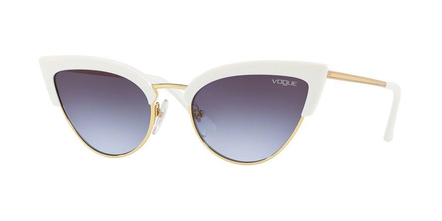 c3eb75b7c2b VOGUE VO5212S style-color W7454Q White   Gold White Sunglasses