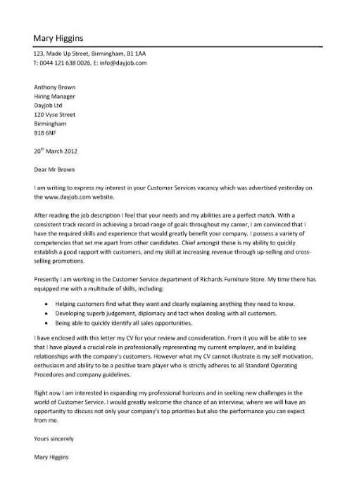 Resume Cover Letter Examples for Customer Service   snefciorg