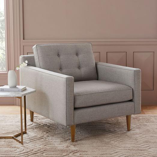 west elm crosby chair bear bean bag mid century armchair sets pinterest