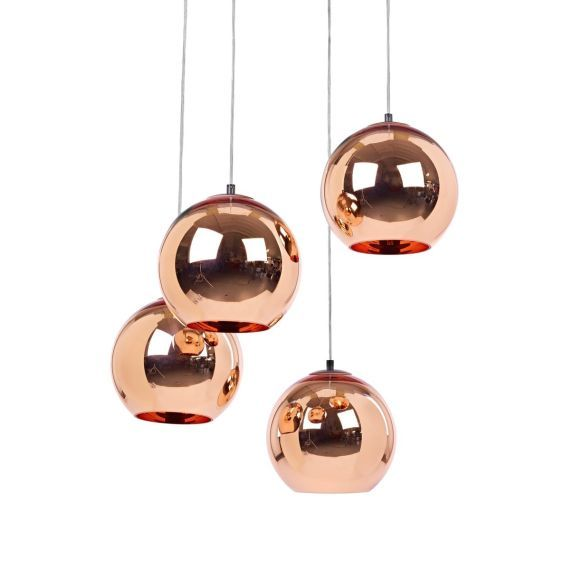 Rippvalgusti Copper Round Hektor Light Copper Pendant Lights Pendant Light Pendant Lamp