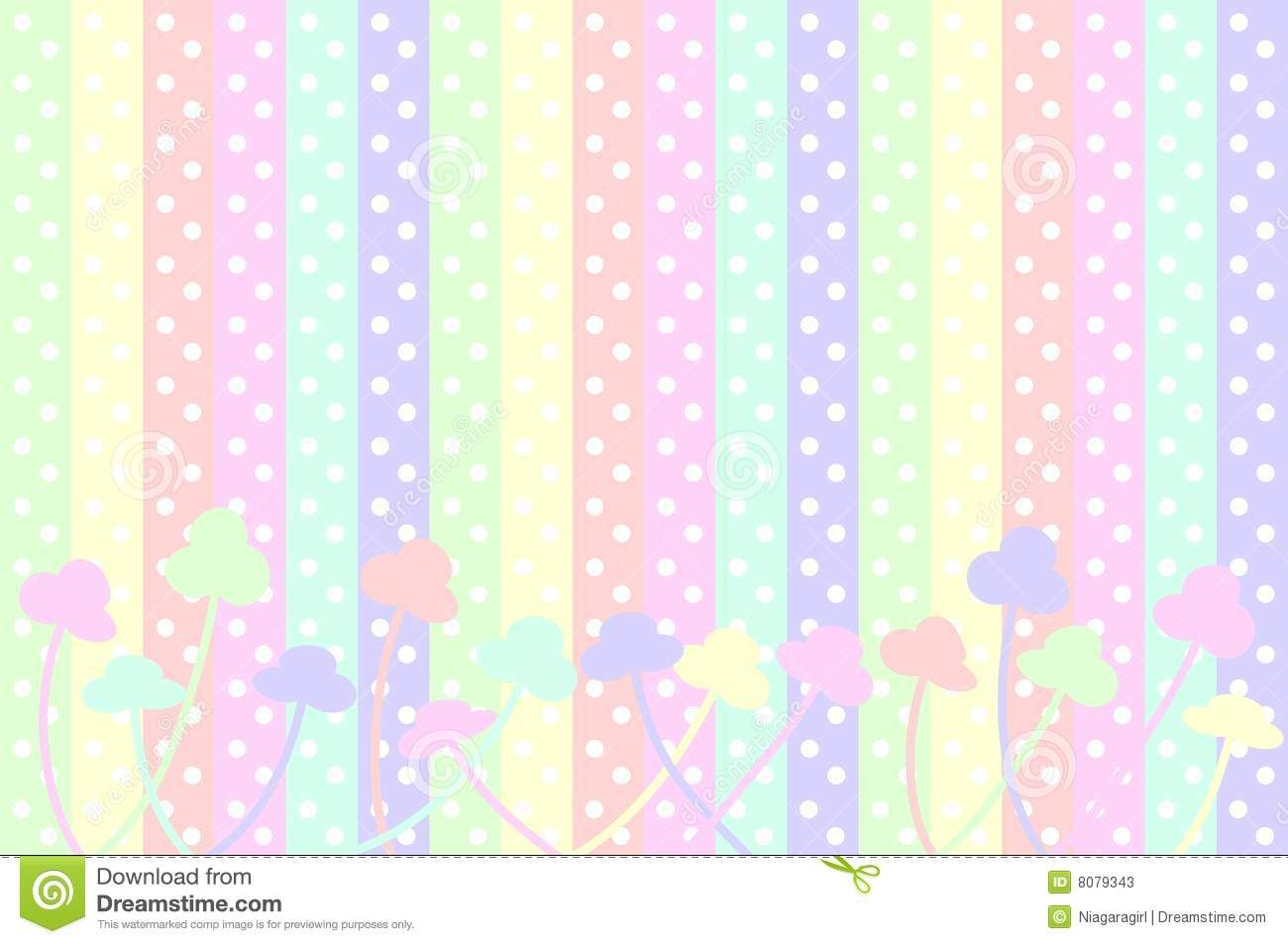 Puntos Y Rayas En Colores Pastel De Polca