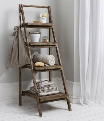 Rustic Ladder Shelf Unit Wooden Ladder Shelf Old Wooden Ladders