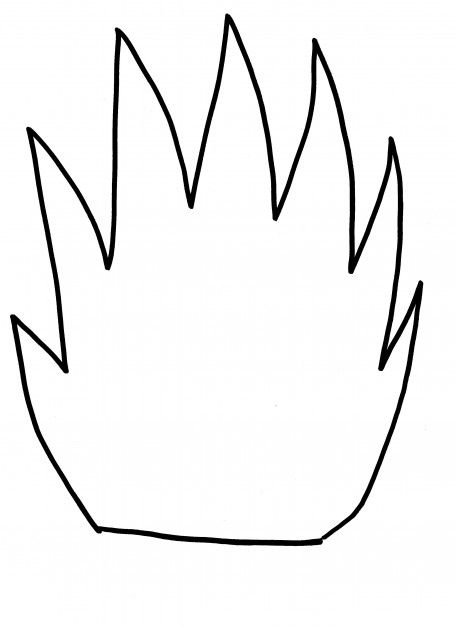 Drawn Candle Outline Candle Flame Drawing Candle Flame Drawing