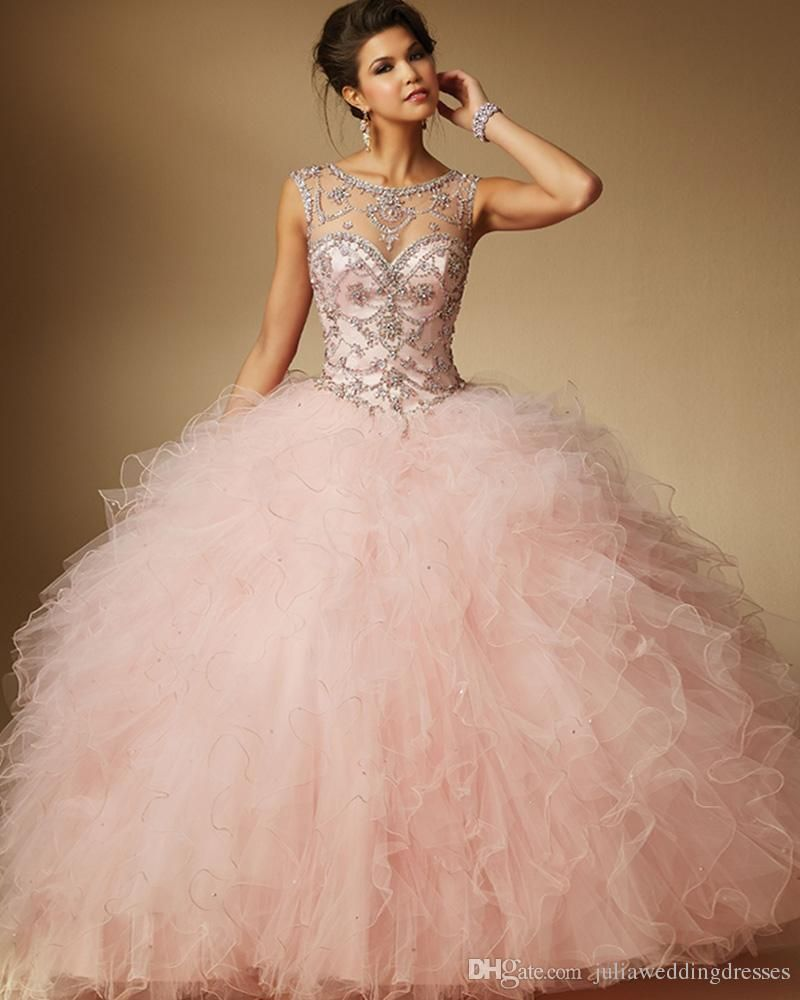New Cheap Quinceanera Dresses 2017 Sparkling Shiny Crystal Sweet 16 ...