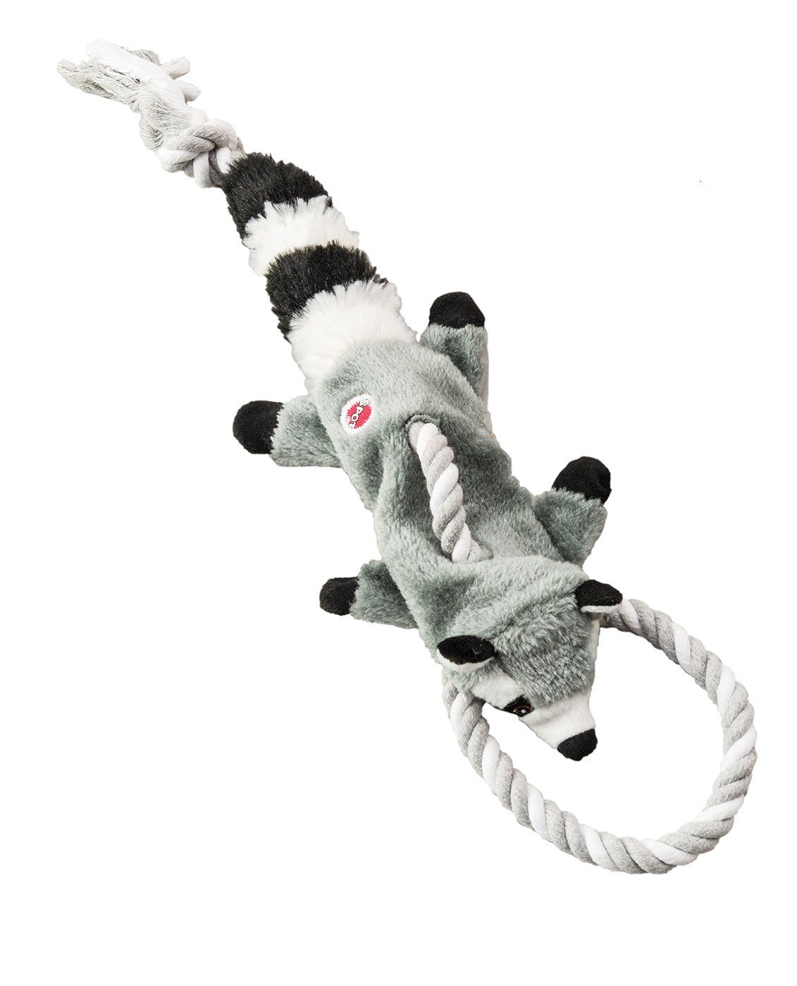 Ethical Pets Raccoon Mini Skinneeez Tugs Stuffingless Dog Toy 14