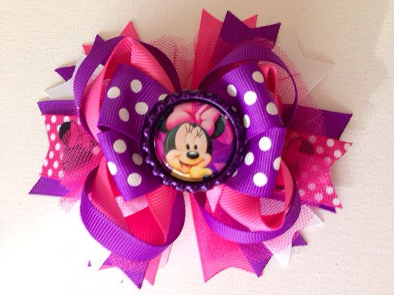 Minnie Mouse over the top bow