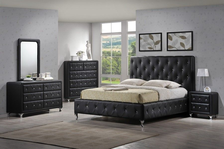 Best Modern Tufted Black Bedroom Set Bedroom Collections 640 x 480