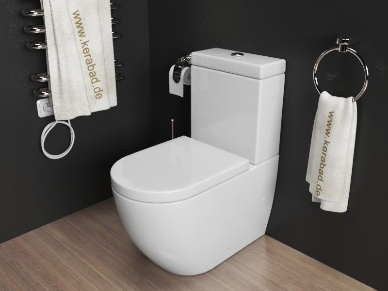 design stand wc kombination toilette inkl sp lkasten duroplast wc sitz kb76a ebay 199 bad. Black Bedroom Furniture Sets. Home Design Ideas