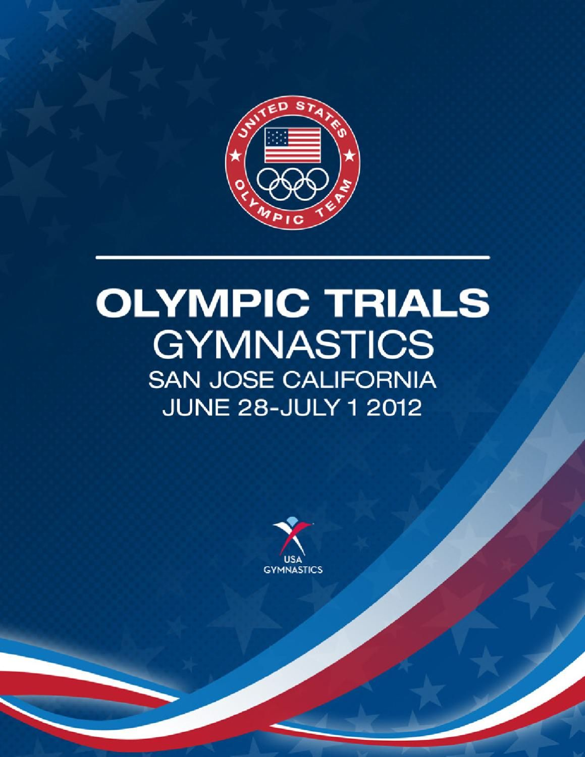 US Olympic Trials  Gymnastics Event Program  Gymnastics