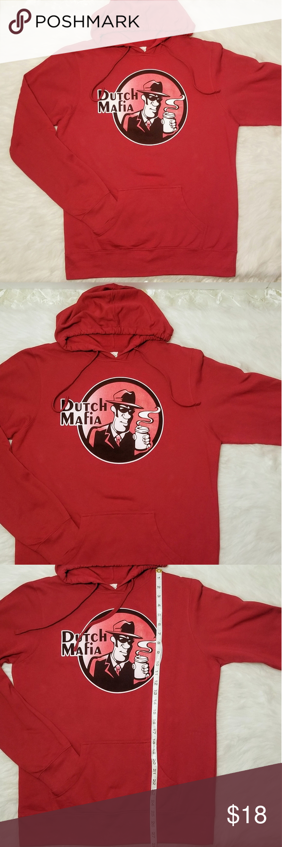 DUTCH BROS MAFIA Brothers Hoodie Dutch Mafia Life Drawstring hood Kangaroo front pocket  Unisex  Cotton/ Polyester Dutch Bros Shirts Sweatshirts & Hoodies #dutchbros