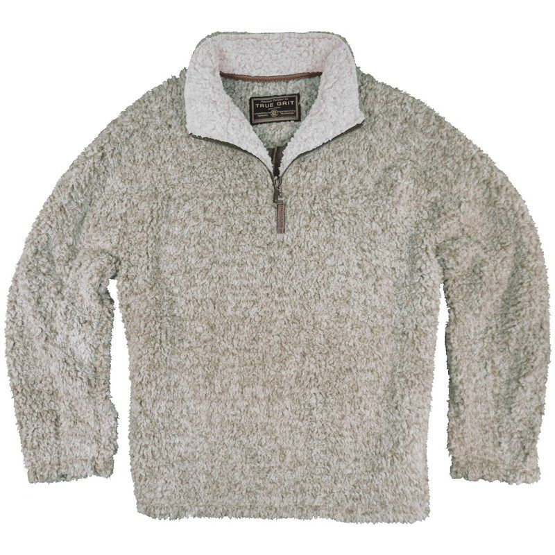 True Grit Frosty Tipped Pile 1/2 Zip Fleece Pullover @ Alabama ...