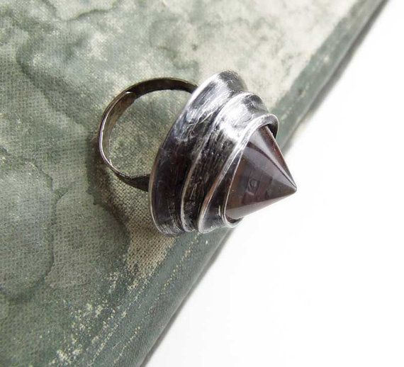 crystal collector RING tiffany glamourous shine glass by MARIAELA, $32.00