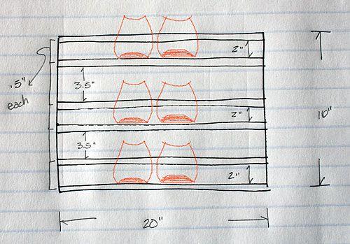 not martha — DIY shoe rack for a tight space Diy shoe