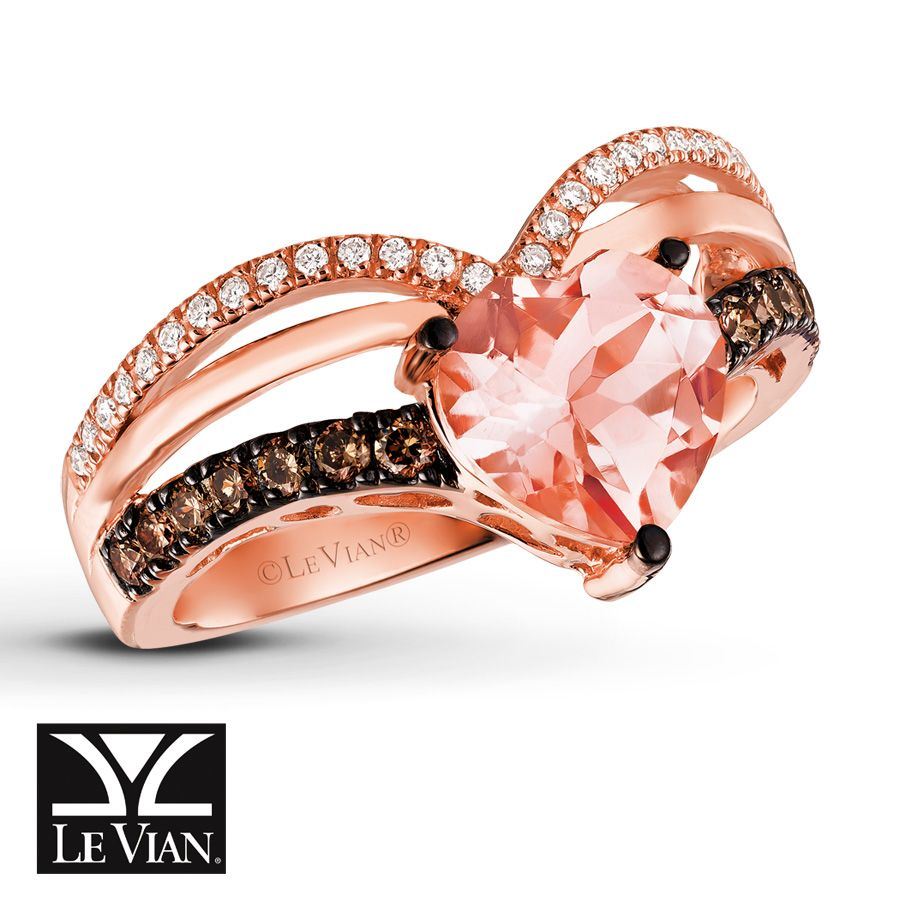 Le Vian Chocolatier Peach Morganite Ring in 14K Strawberry Gold