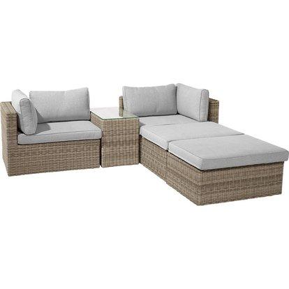 Lounge Set Olea 5 Teilig Aus Polyrattan Sand Kaufen Bei Obi Lounge Lounge Gartenmobel Polyrattan