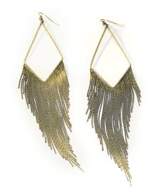 Diamond Fringe Earrings.