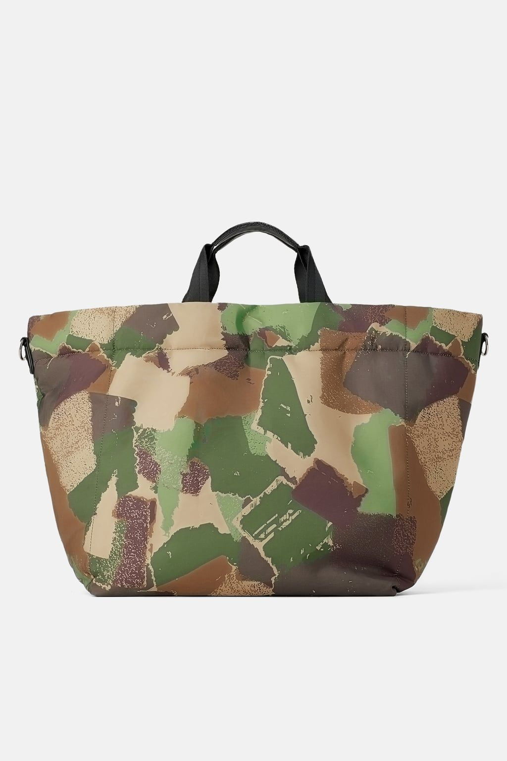 Camouflage Quilted Tote Bag In 2020 Shopper Bag Quilted