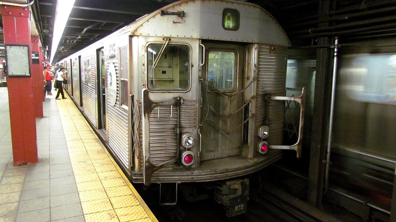 NYCTA A TRAIN,OPENBVE,R 32,DOWNTOWN EXPRESS,207 ST TO 14 ST