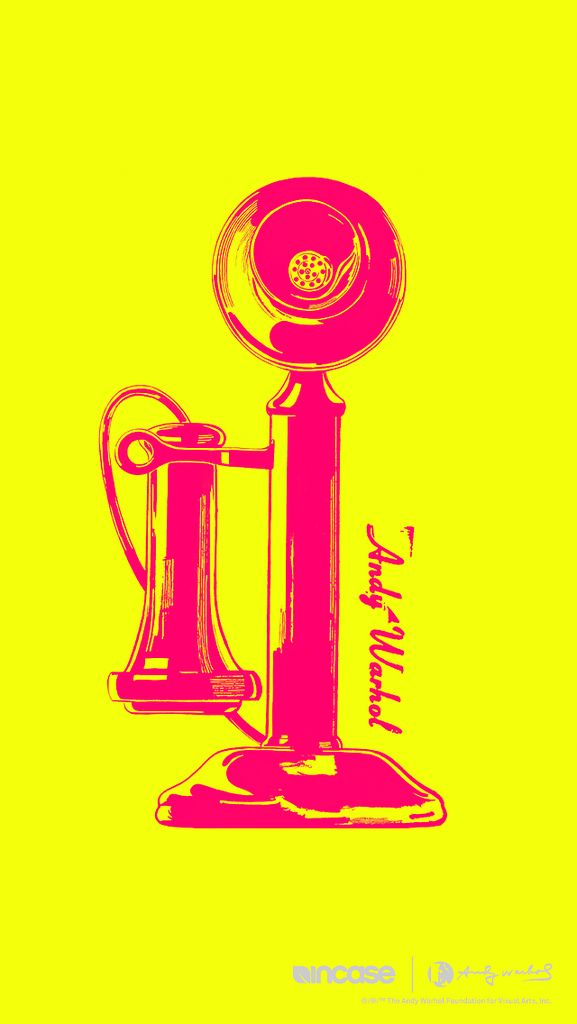 Telephone Electric Yellow #andywarhol