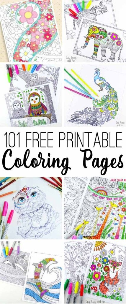 Free Printable Coloring Pages | Coloring | Pinterest | Colorear ...