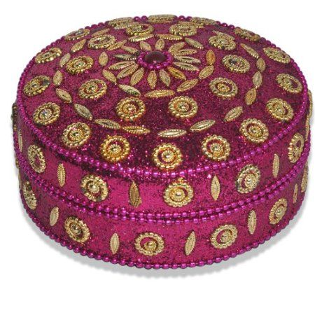 Round Decorative Boxes Classy Hot Pink Round Shape Jewelry Box For Girls  Jewelry Boxes Design Decoration