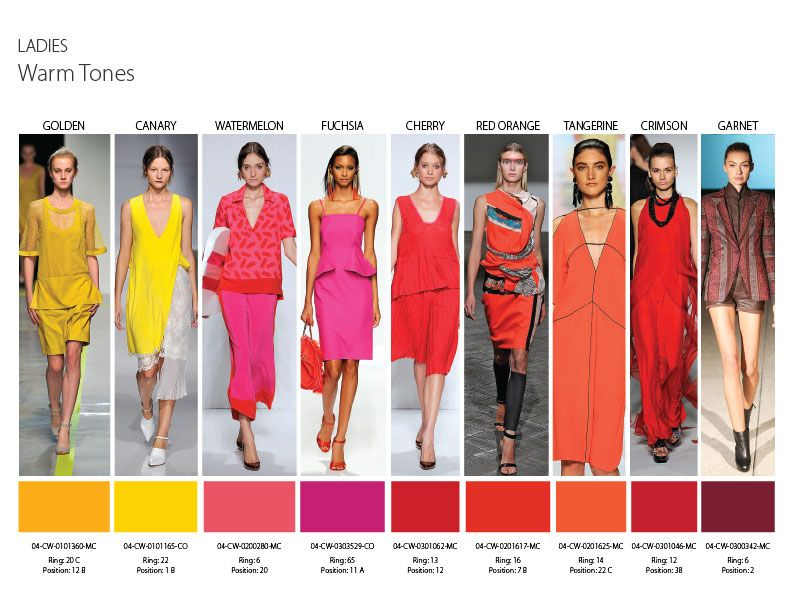 Spring summer fashion colours