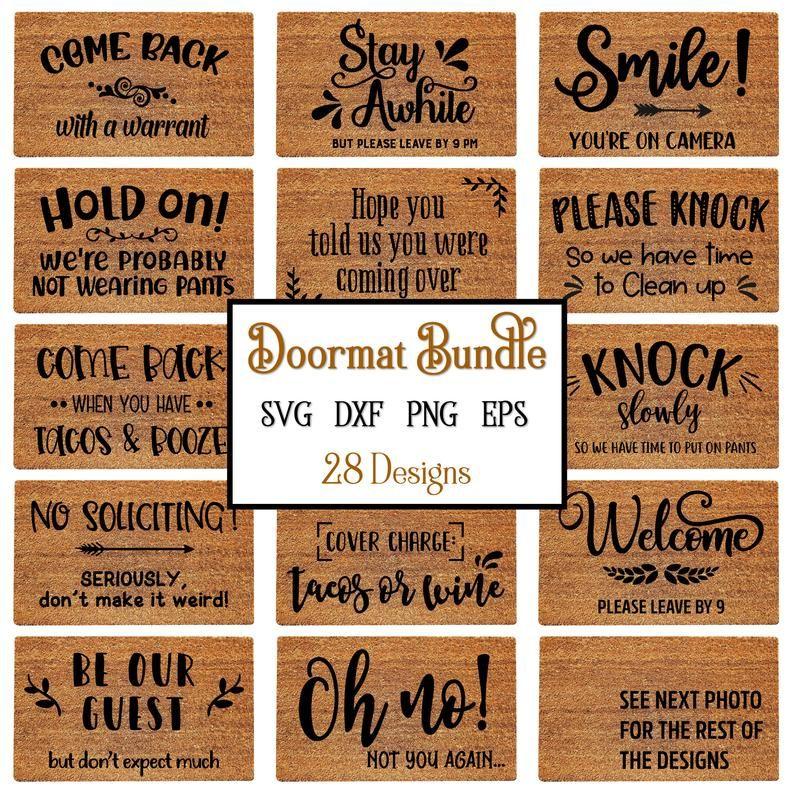 Doormat Svg Bundle Doormat Svg Doormat Stencils Svg Funny Etsy Funny Doormats Funny Welcome Signs Door Mat