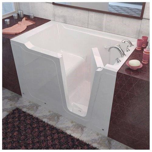 36 X 60 Right Drain Soaking Walk In Bathtub  Soaker Tub