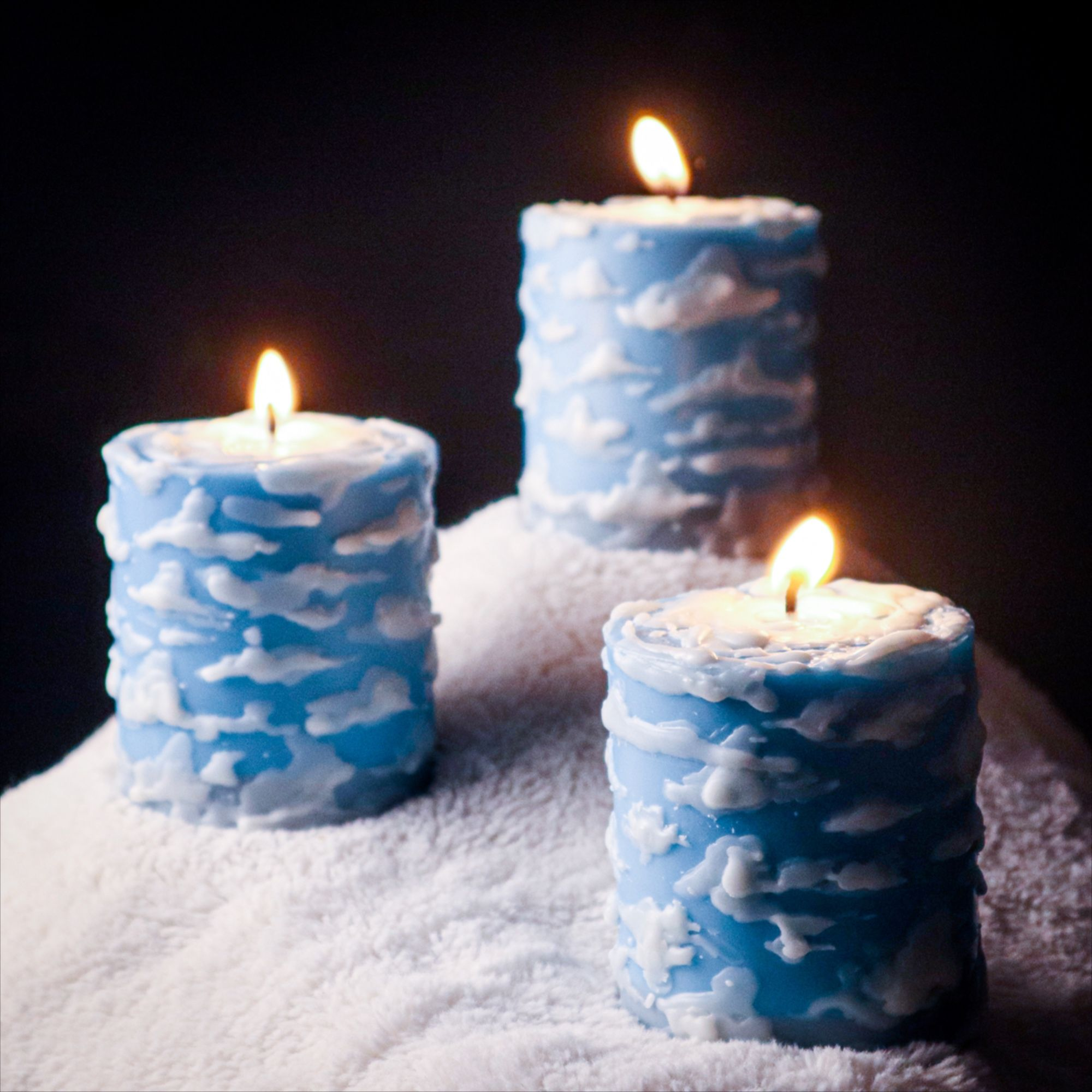 Cloud Candle Sky Blue Soy Pillar Candle Vegan Hand Etsy In 2021 Soy Pillar Candles Pillar Candles Candles